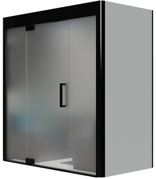 Office meeting pod with frosted glass