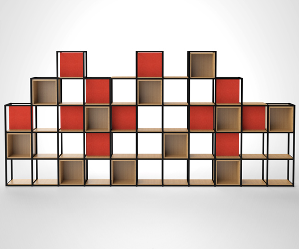 Novus stylish office shelving