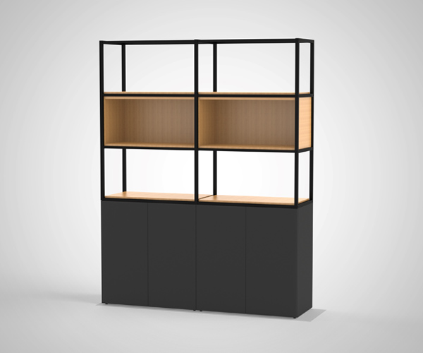 Novus contemporary office shelving